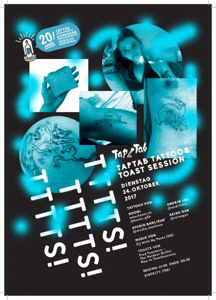 Tattoos von Kooni, Studio Banlieue, Andrin und Reina_gzn, Musik: DJ With No Pants (DE)