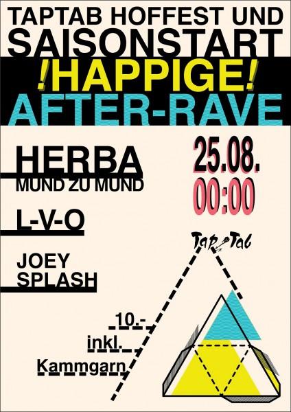 DJs Herba (Mund zu Mund/ZH), Joey Splash (UnterDenSternen), L-V-O