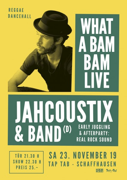 Jahcoustix & Band (D), Special Guest: Tóke (D), juggling by Real Rock Sound