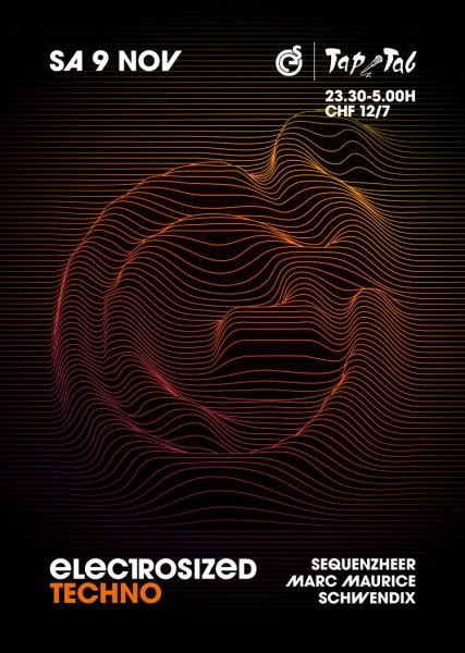 DJs Sequenzheer, Marc Maurice, Schwendix, Deko by «Electrosized»